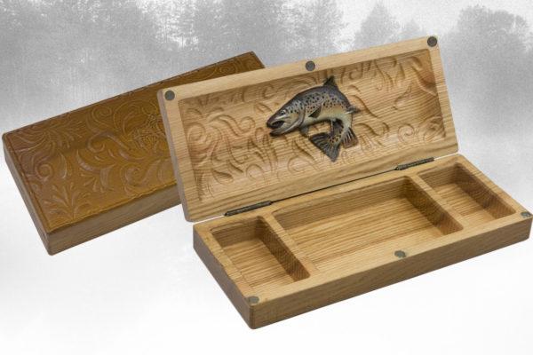 Drewniane pudełko na przynęty